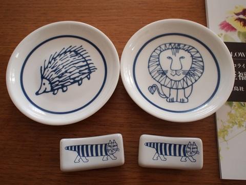 リサ・ラーソンの豆皿&箸置き