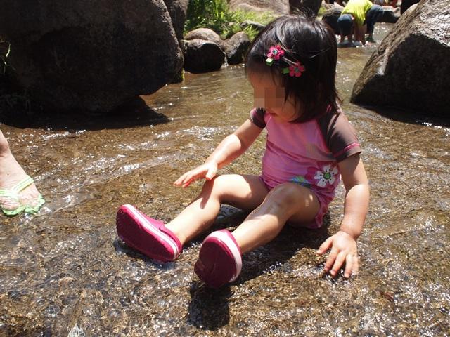 航空公園で水遊び