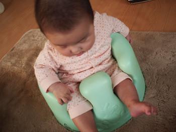 バンボに座ったkaboちゃん