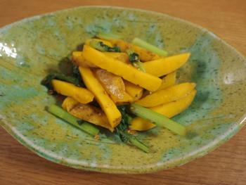 小松菜とじゃがいものゴマ醤油炒め