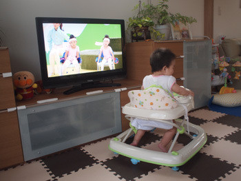 テレビを見る椅子