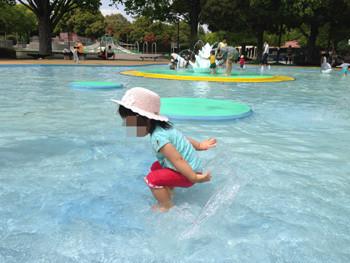 昭和記念公園水遊び
