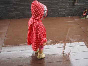 雨のベランダ