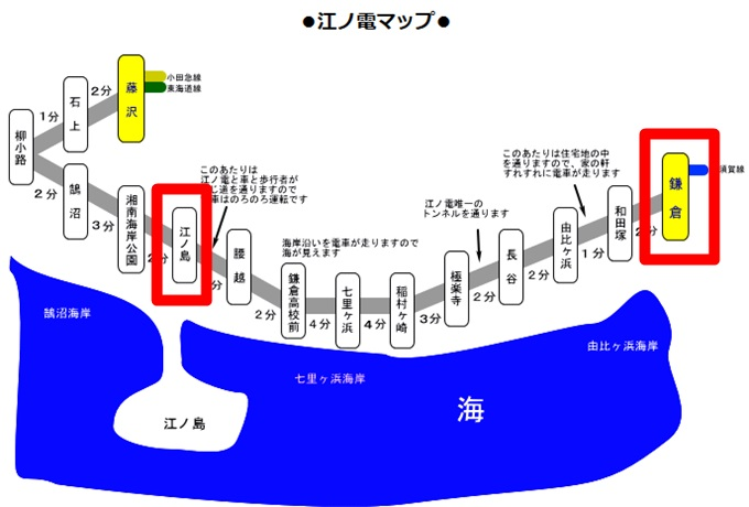 江ノ電マップ