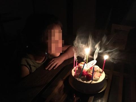 6歳実家で誕生日パーティー