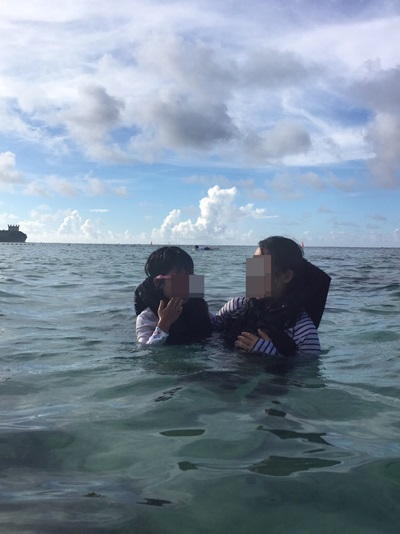 水中メガネ