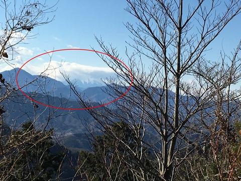 高尾山頂上からの眺め