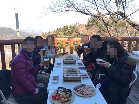 高尾山バーベキューマウントで新年会