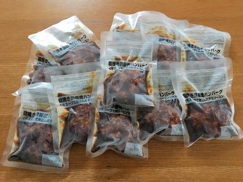 粗挽き鉄板焼ハンバーグ デミソース 20個