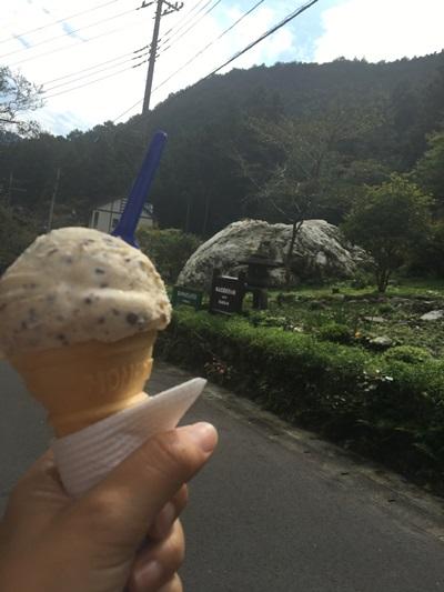 アイスを食べながらハイキング