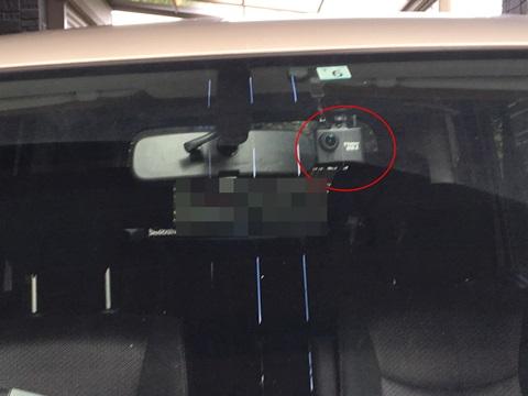 ドライブレコーダーを付けた画像