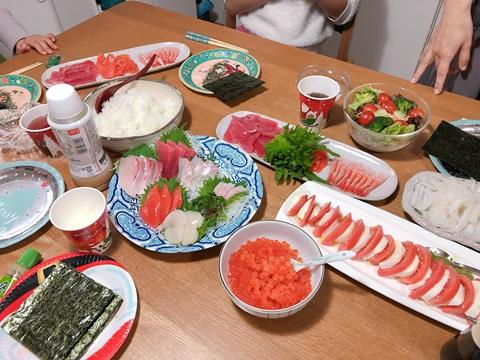 手巻き寿司クリスマスパーティー