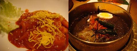トッポキ菜花風、冷麺