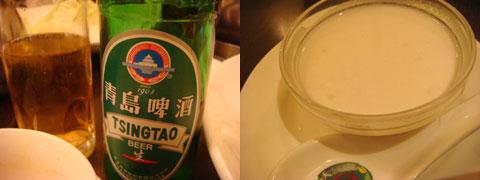 ビールは青島(チンタァウ)ビール