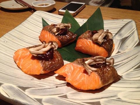 鮭ときのこのお葱味噌焼き