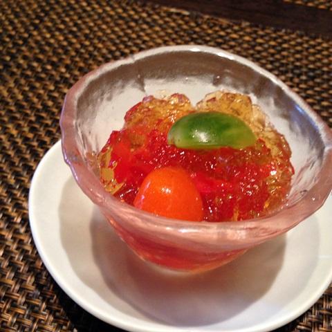 トマト和出汁ジュレサラダ