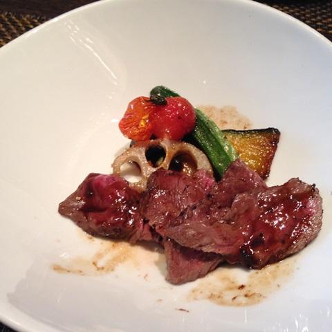 A5和牛熟成赤身肉のステーキ