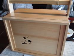 白木箱三段 懐石仕立