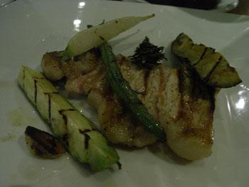 赤城高原豚ロース肉のグリル 季節の野菜添え