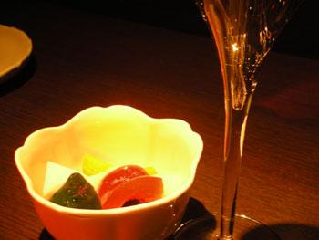 フレッシュピクルスとシャンパン