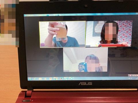 Zoomでコロナ隔離友人(中国)とオンライン飲み会
