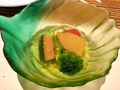 季節野菜のの柚子ジュレ掛け