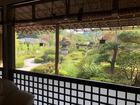 真木温泉お庭
