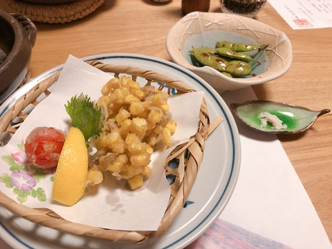 真木温泉夕食