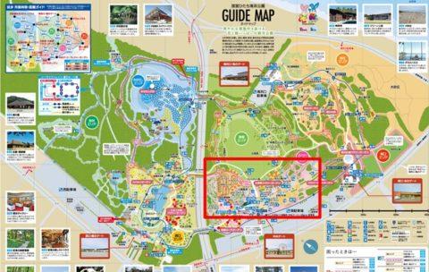 国営ひたち海浜公園マップ