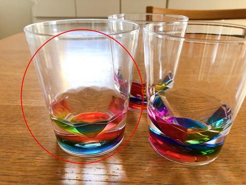 ニトリのブラスチックグラス(MSタンブラー レインボー)