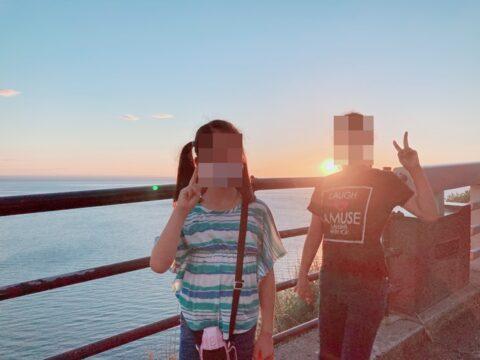 プユニ岬の夕日